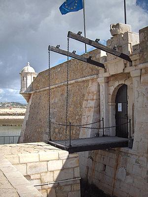 Entrance with drawbridge; Forte da Ponta da Ba...