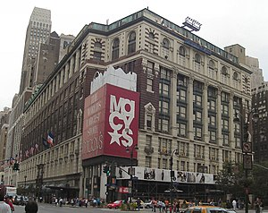 The Macy's flagship department store with the ...