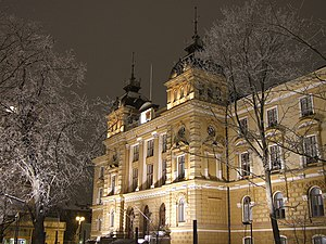 The Oulu City Hall in Oulu, Finland, in the ev...