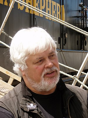 English: Portrait of Paul Watson, Captain of S...