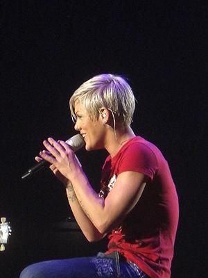 Pink performing at Wiener Stadthalle in Vienna...