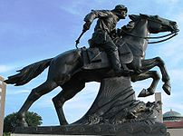 Pony Express statue in St.