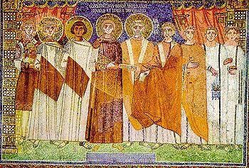 English: Mosaic in basilica of Sant'Apollinare...