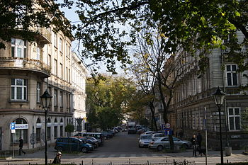 English: Sarego street,Krakow,Poland Polski: u...