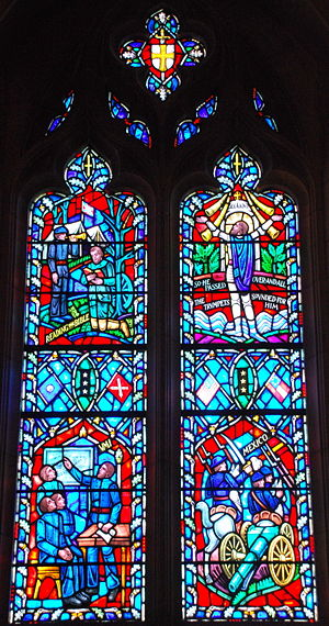 Stain glass window of Stonewall Jackson in the...