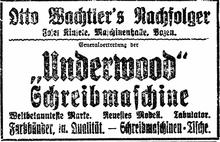 Underwood (Schreibmaschine)