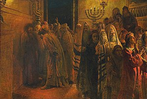 English: The Judgment of the Sanhedrin: He is ...