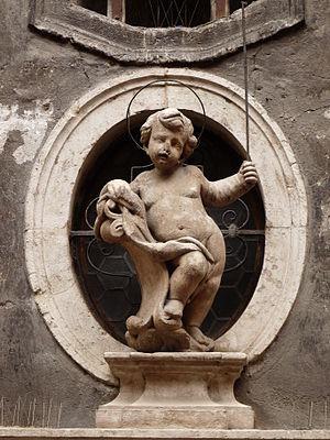 English: Trento (Italy): statue of Simon of Tr...