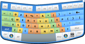 English: Virtual On-Screen Keyboard for Windows