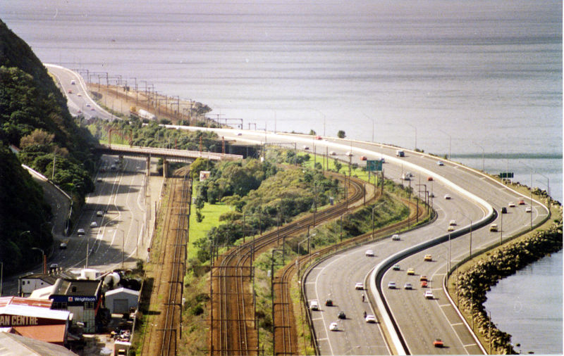 A view of the Wellington Urban Motorway