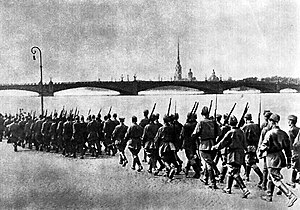 Mobilisation fo troops of the Leningrad Milita...
