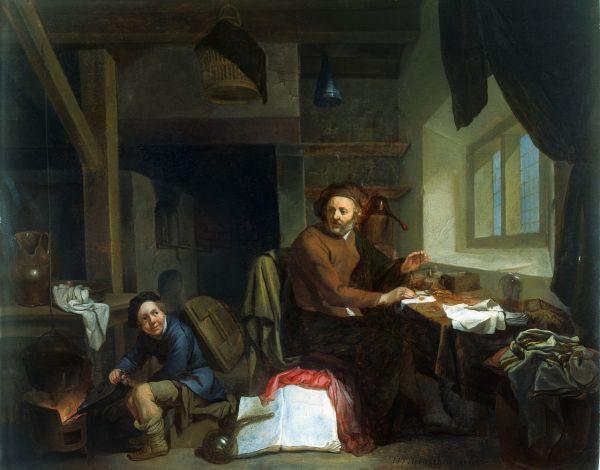File Alchemist Making Gold. Oil Painting Hendrik