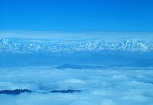 Binsar, a view of Kumaon Himalayas, (Uttarakhand)