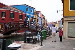Channel in Burano, Venice, Italy