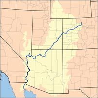 Map of the Colorado Watershed