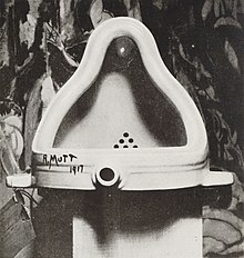 Marcel Duchamp, Fountain, 1917. Photograph by Alfred Stieglitz