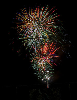 Fireworks from the riverfront in Owensboro, KY...