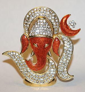 A statue of Ganesha.