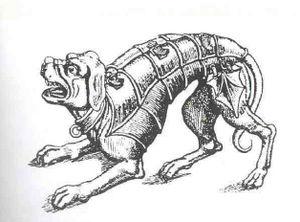 Deutsch: mittelalter, gepanzerter, doggenartig...