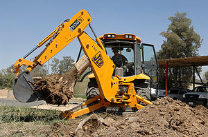 English: JCB 3CX Backhoe loader