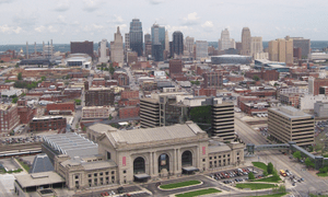 Downtown Kansas City, Missouri, where open con...