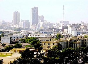 A view of Karachi downtown, the capital of Sin...