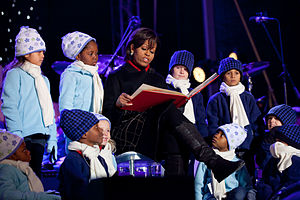 """First Lady Michelle Obama reads """"'Twas the Nig..."""