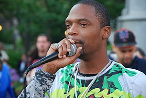 M1 of Dead Prez speaking at a rally for death ...