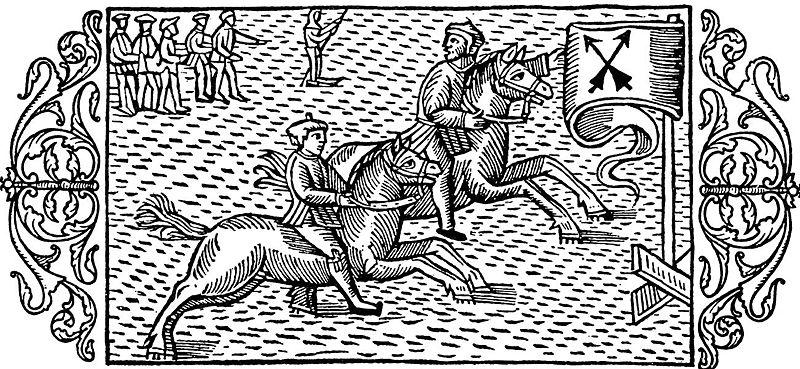 Hästkapplöpning på isen