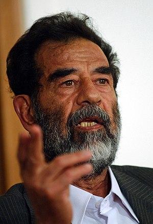 English: Former President of Iraq, Saddam Huss...