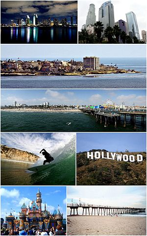 English: Montage of Southern California images...