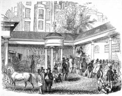 Tattersall's at Hyde Park Corner in 1842.