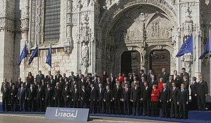 Staats- und Regierungschefs in Lisabon, 13.12.2007