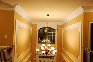 Foyer Crown molding and Wall panels