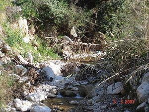 Panagitsa river ovrya Greece