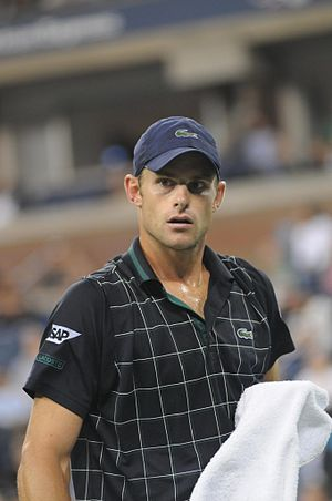 Andy Roddick on the opening day of the 2009 US...