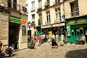 English: As du Falafel, rue des Rosiers, Paris...