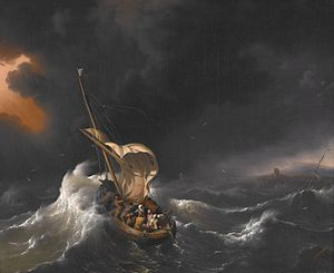 Backhuysen, Ludolf - Christ in the Storm on th...