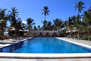 The swimming pool at Baraza Resort and Spa pip...