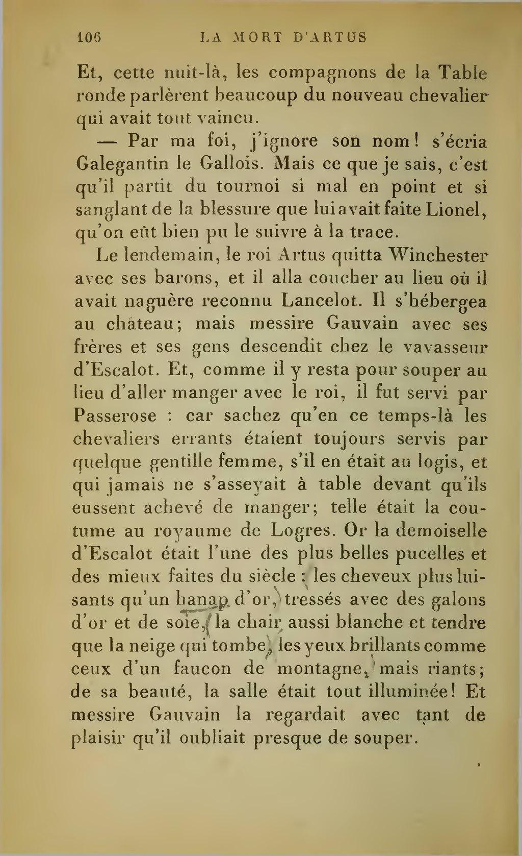 Faucon De La Table Ronde : faucon, table, ronde, Page:Boulenger, Romans, Table, Ronde, 1923.djvu/109, Wikisource