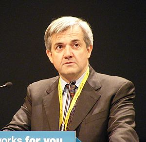 English: Chris Huhne at the Liberal Democrat S...