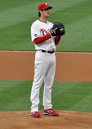 English: Cole Hamels of the Philadelphia Phill...