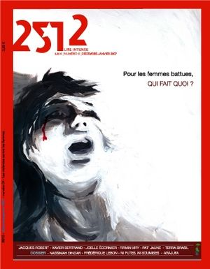 The cover of the edition on domestic violence.