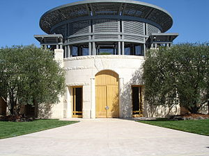Exterior of the Napa Valley winery Opus One fo...