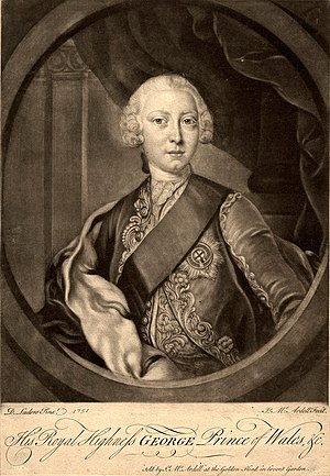 English: George III of the United Kingdom whil...