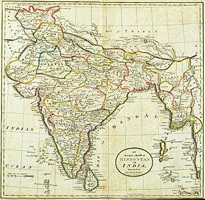 Hindoostan map 1814