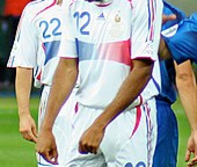 Henry Playing For France Against Italy During The  Fifa World Cup Final He Wore Number  For France The Same Number As His Idol Marco Van Basten