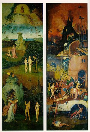 Hell (on the right) is portrayed in this 16th ...