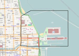 English: Streeterville map