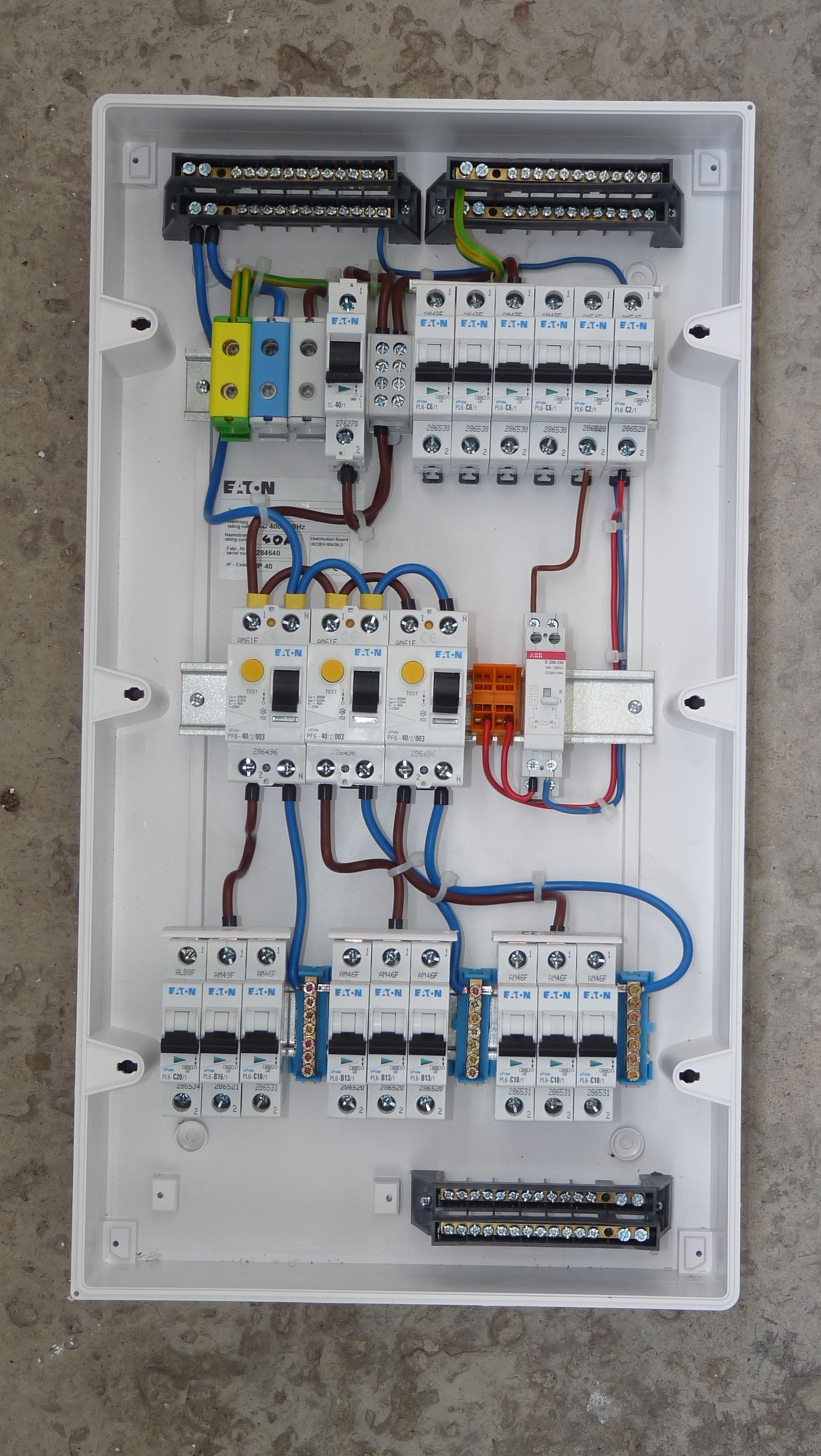 Adding fuse to a residential box wiring diagram